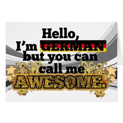 El alemán, pero me llama impresionante tarjeta de felicitación