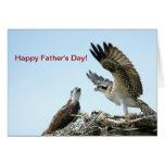El aleteo feliz del osprey del día de padres se va tarjetón