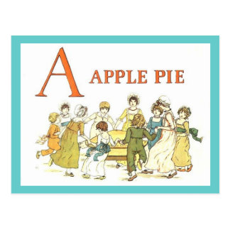 El alfabeto A está para la tarjeta de la receta de Postal