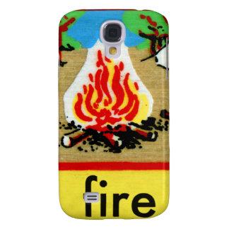 El alfabeto F del deletreo del fuego del campo del Funda Samsung S4
