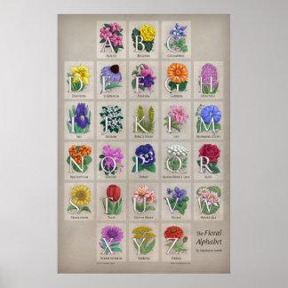 El alfabeto floral impresiones