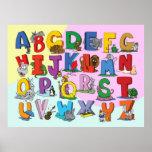 El alfabeto inglés posters