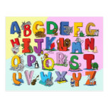 El alfabeto inglés tarjetas postales