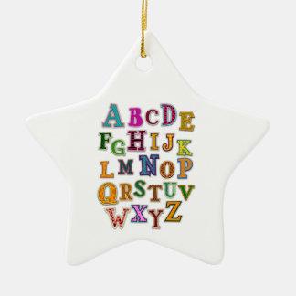 El alfabeto remienda el ornamento ornamentos para reyes magos