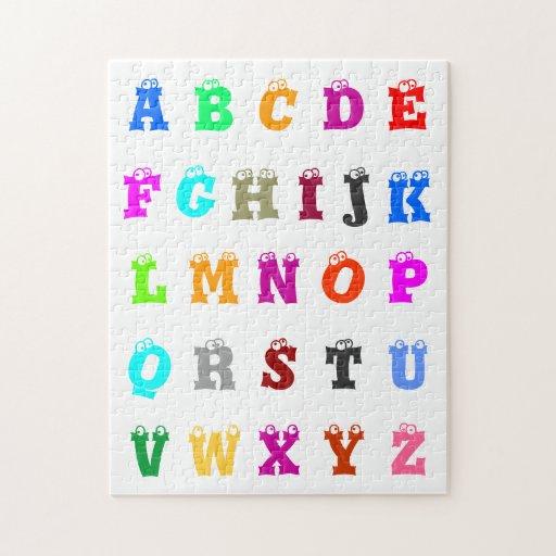 El alfabeto rompecabeza con fotos