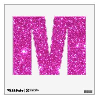El alfabeto rosado de la chispa pone letras a la vinilo decorativo
