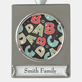 El alfabeto tonto letra A-B-C-D Adornos Personalizables