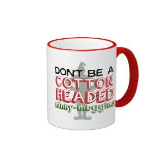 El algodón dirigió la taza del duende del navidad