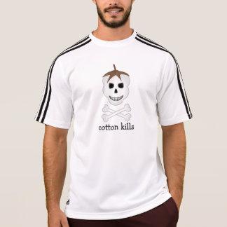 El algodón mata a la camiseta atlética