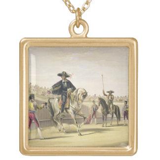 El Alguazil que entrega las llaves del Toril, 186 Colgante Cuadrado