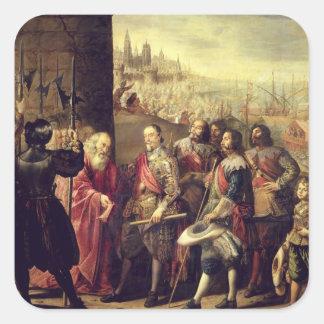 El alivio de Génova, 1528, c.1634-35 (aceite en Pegatina Cuadrada