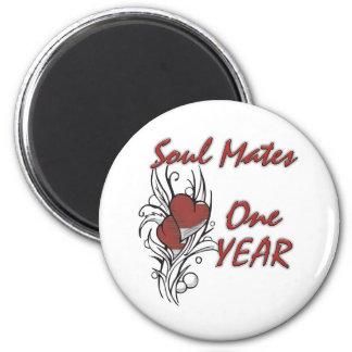 El alma acopla 1 año imán redondo 5 cm