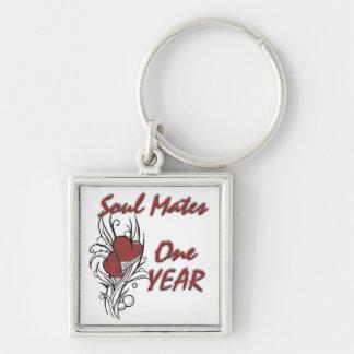El alma acopla 1 año llaveros personalizados