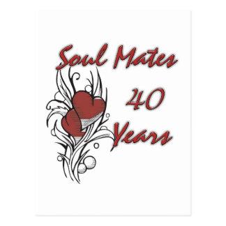 El alma acopla 40 años tarjeta postal
