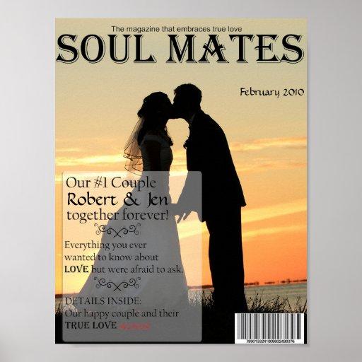 El alma acopla la portada de revista póster
