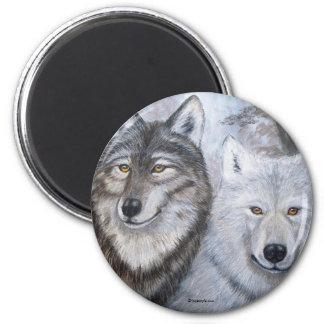 El alma acopla lobos por Lorri Karels Imán Redondo 5 Cm