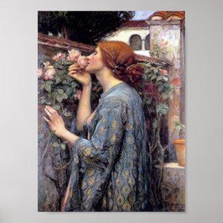 El alma de la impresión del rosa impresiones