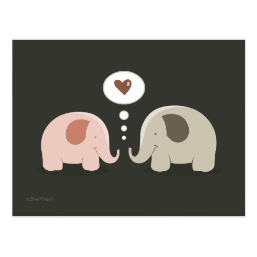 El alma de los elefantes acopla la postal