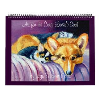 El alma del amante del Corgi del calendario del