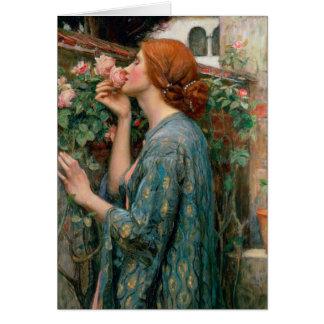 El alma del color de rosa 1908 tarjeta