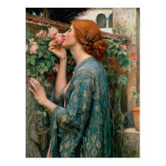El alma del color de rosa 1908 tarjeta postal