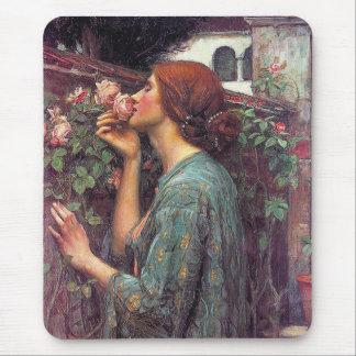 El alma del color de rosa de Juan W. Waterhouse Mouse Pads