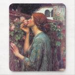 El alma del color de rosa de Juan W. Waterhouse Alfombrilla De Raton