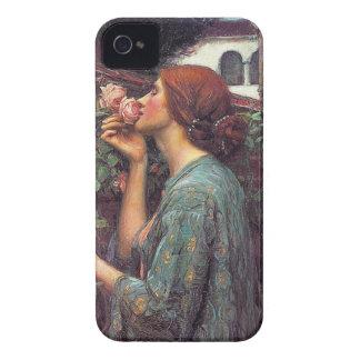 """""""El alma del color de rosa"""" por Juan W. Waterhouse Case-Mate iPhone 4 Protectores"""