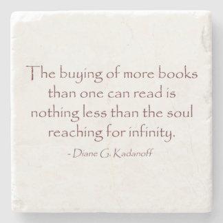 El alma que alcanza para el infinito posavasos de piedra