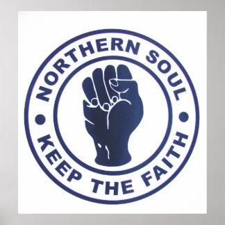 El alma septentrional guarda los lemas de la fe y póster
