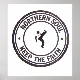 El alma septentrional guarda los lemas y al póster