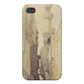 El alminar de la mezquita del EL Rhamree, El Cairo iPhone 4 Carcasas