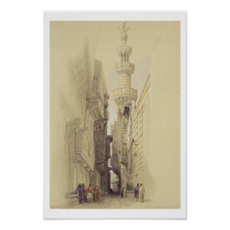 El alminar de la mezquita del EL Rhamree, El Cairo Póster