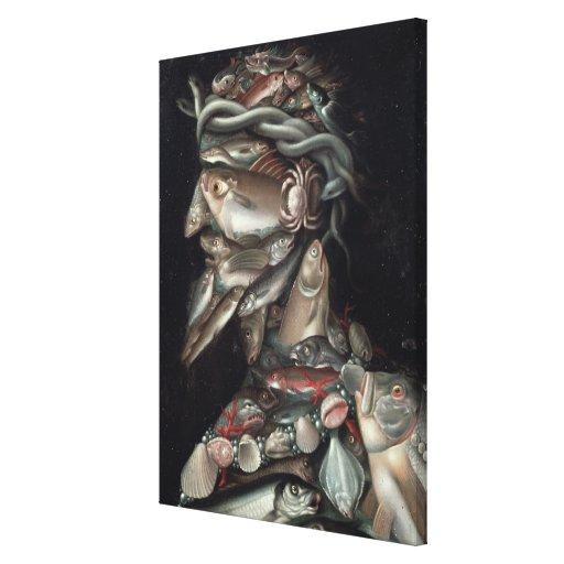 El almirante lienzo envuelto para galerias