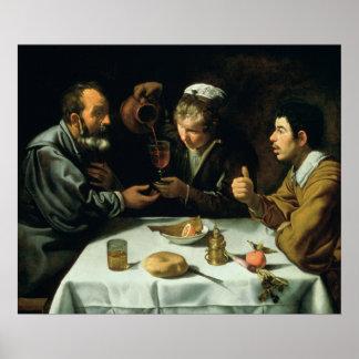 El almuerzo, 1620 póster
