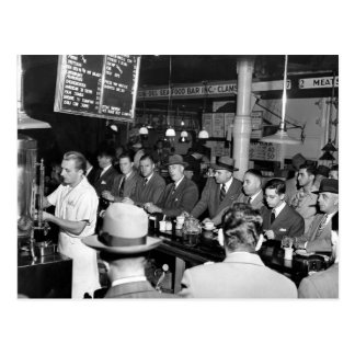 El almuerzo Counter, 1950 de Pete Tarjetas Postales