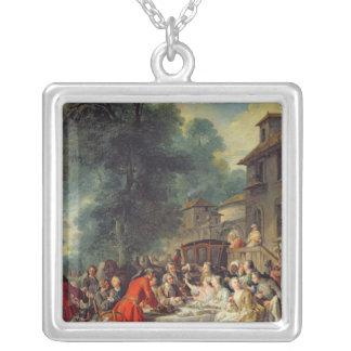 El almuerzo de la caza, 1737 colgante cuadrado