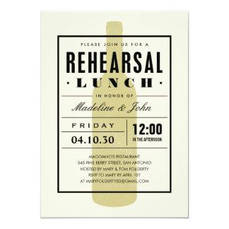 El almuerzo del ensayo del vino invita con un anuncio personalizado