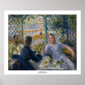 El almuerzo del Rower de Pierre-Auguste Renoir Impresiones