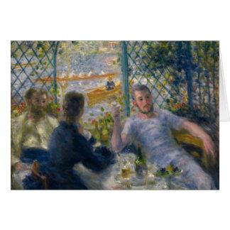 El almuerzo del Rower de Pierre-Auguste Renoir Tarjeta De Felicitación