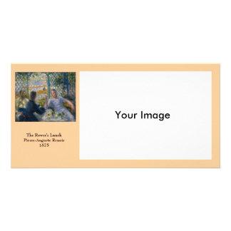 El almuerzo del Rower de Pierre-Auguste Renoir Tarjetas Fotográficas Personalizadas