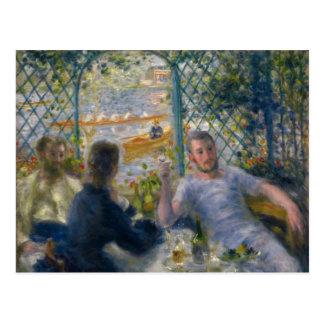 El almuerzo del Rower de Pierre-Auguste Renoir Postal