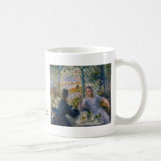 El almuerzo del Rower de Pierre-Auguste Renoir Taza De Café
