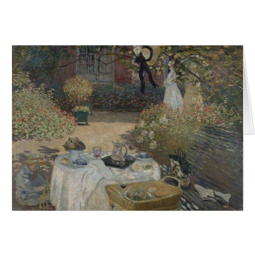 El almuerzo (Le déjeuner) Claude Monet 1874 Felicitacion