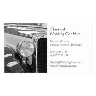 El alquiler de coche del boda, añade su foto - tarjetas de visita