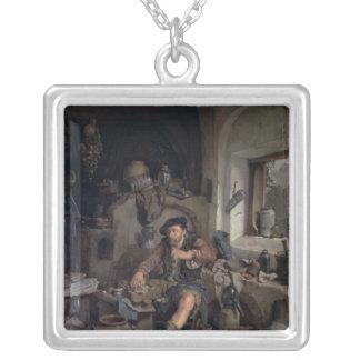 El alquimista, 1663 colgante cuadrado