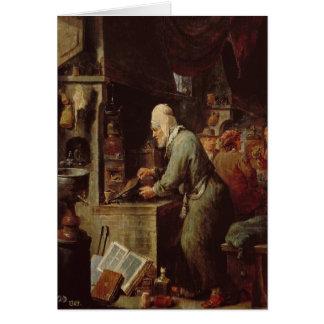 El alquimista tarjeta de felicitación