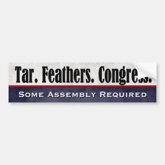 El alquitrán empluma al congreso que un poco de pegatina para auto