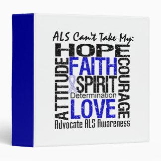 """El ALS no puede tomar mi collage de la esperanza Carpeta 1 1/2"""""""
