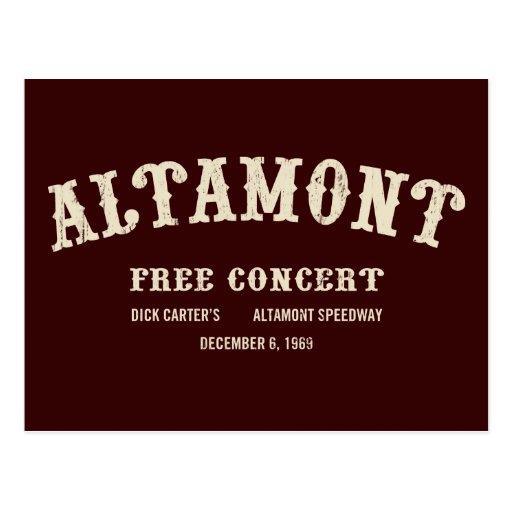 el altamont libera concierto tarjetas postales